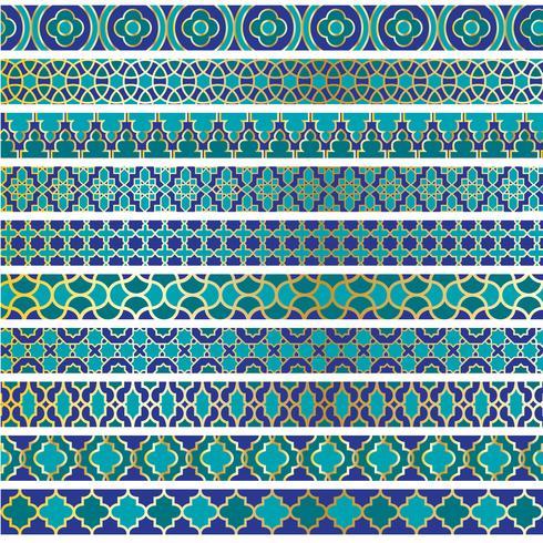 blå guld marockanska gränsmönster