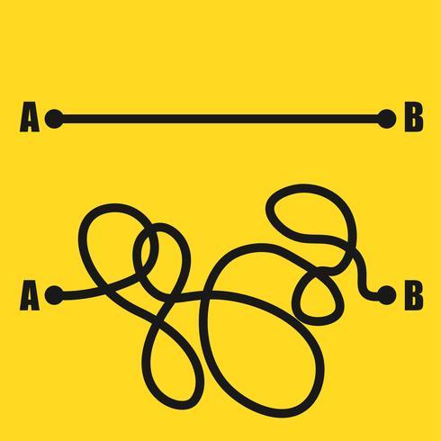 Straße von Punkt A nach Punkt B