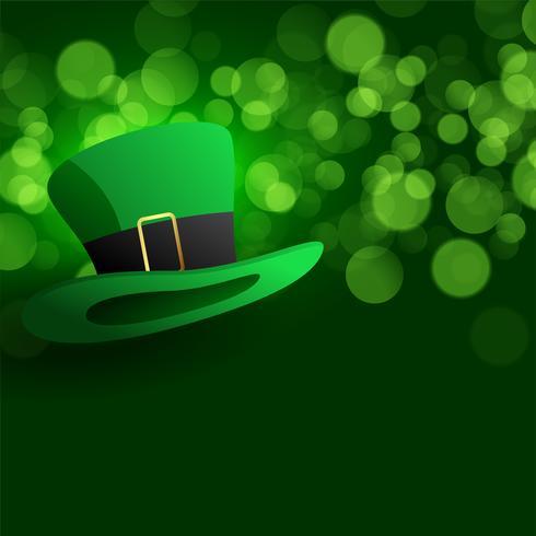 chapéu de duende em fundo verde