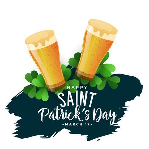 sfondo di giorno di San Patrizio con bicchieri di birra