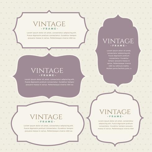 klassiek vintage labels decorontwerp