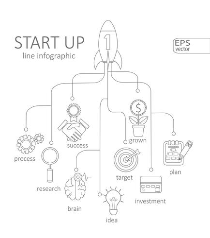 Concepto de inicio de infografía