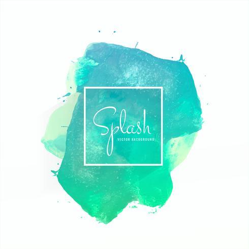 Hand drawn colorful soft watercolor splash design vector