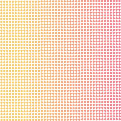 Sfondo sfumato di punti rosa e arancione.