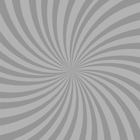 Fondo gris brillante de los rayos. Efecto Twister.