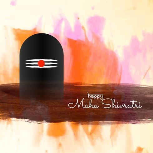 Abstrait festival de Mahashivratri voeux