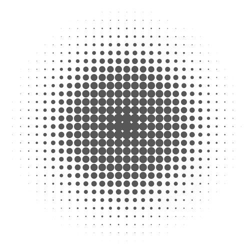 Knall Art Background, schwarze Halbtonpunkte auf weißem Hintergrund.