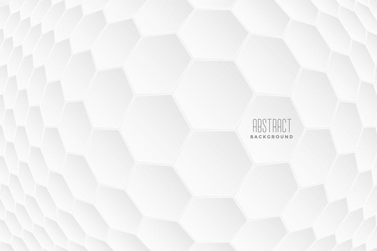 abstrato 3d formas hexagonais fundo branco