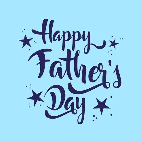 Happy Father's Day belettering whit sterren.