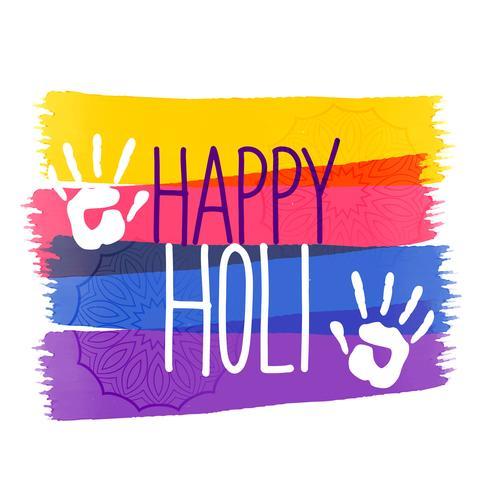 holi farben festival hintergrund mit hand eindruck