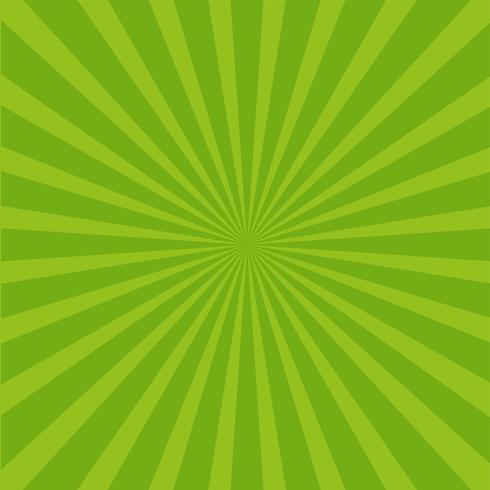 Fond de rayons vert vif.