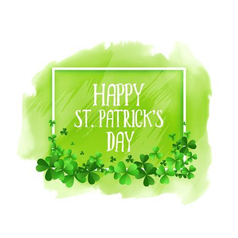 glücklicher St.-Patricks-Tagesgrün-Aquarellhintergrund