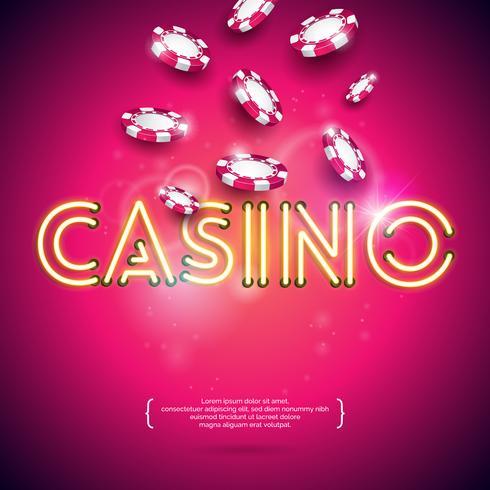 casino theme illustration  vector