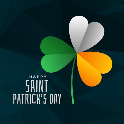 Kleeblatt in Irland-Flaggenfarben für St. Patricks Day