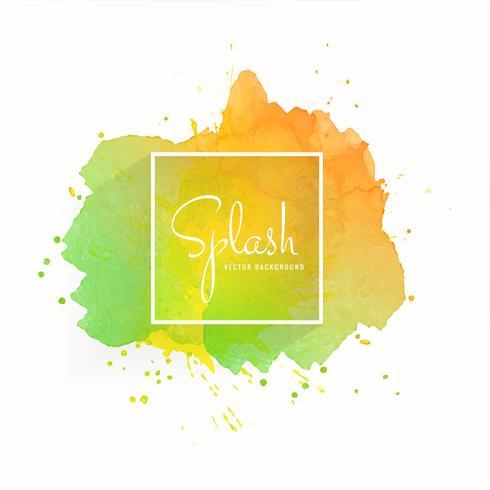 Mancha de acuarela abstracta con diseño colorido splash vector