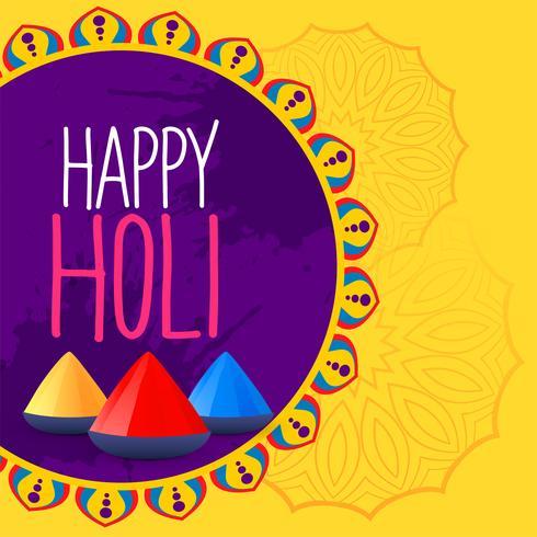 färgstark lycklig holi festival bakgrund