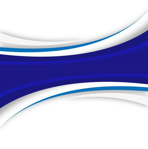 Abstract blue creative wave on white background vector