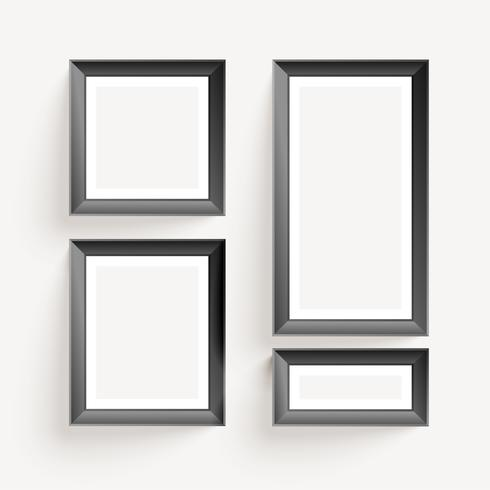 empty wall photo display frames