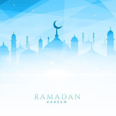 hermosa ilustración de la mezquita para ramadan kareem