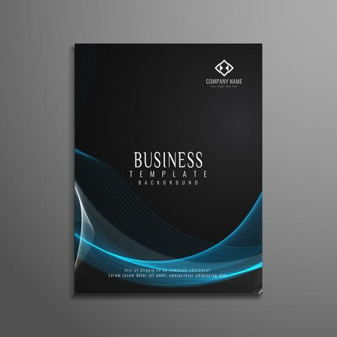 Abstract elegant wavy business flyer template