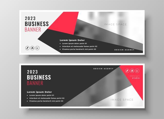 conception de bannière d'affaires géométrique rouge élégant