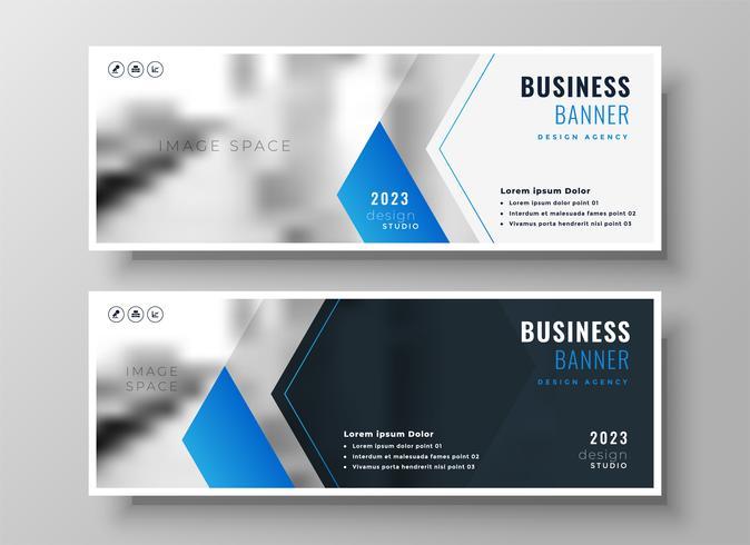 elegante blaue moderne Geschäftsfahnenentwurfsschablone
