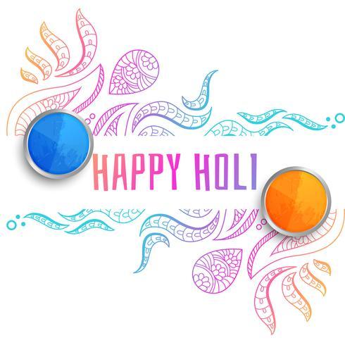 dekorativa lyckliga holi festival hälsning bakgrund
