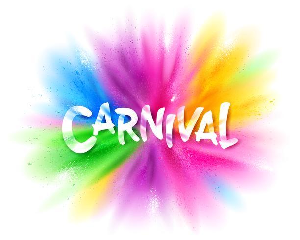 Karneval titel med färgstark explosion vektor
