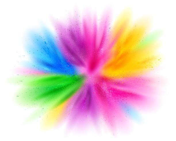 Explosão de pó de cor vetor