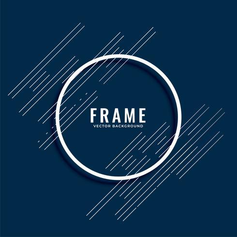 abstrakte minimale Linien Rahmenhintergrund