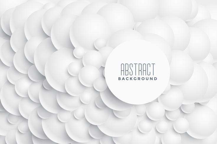 Design de fond 3d cercles abstraits