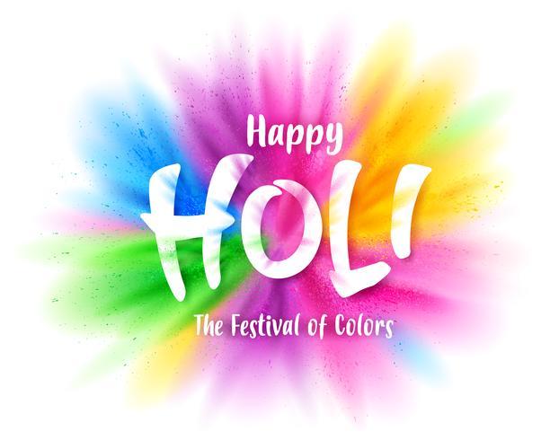 Explosão colorida de feliz Holi