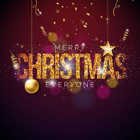 Merry Christmas Illustration vector