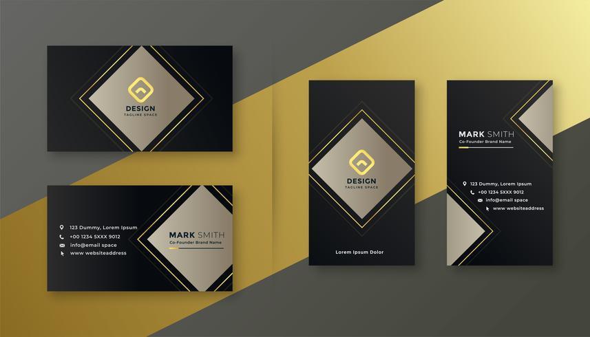 conjunto de plantillas de tarjeta de visita elegante negro
