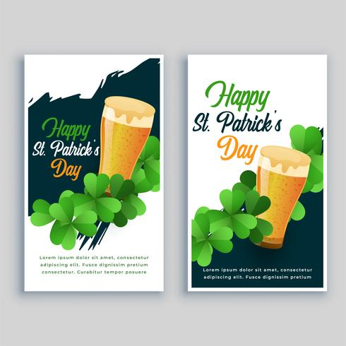happy saint patricks day flyer set