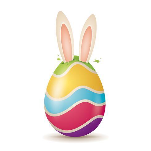 Lapin de Pâques piquer ses oreilles