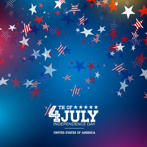 Ilustración del día de la independencia. vector