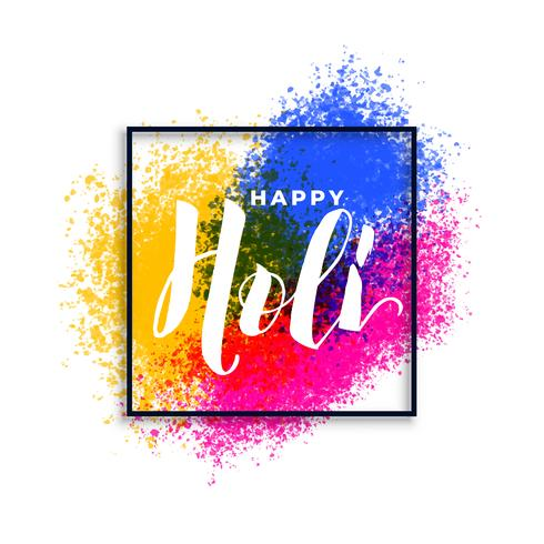 joyeux holi couleurs fond de festival éclaboussures