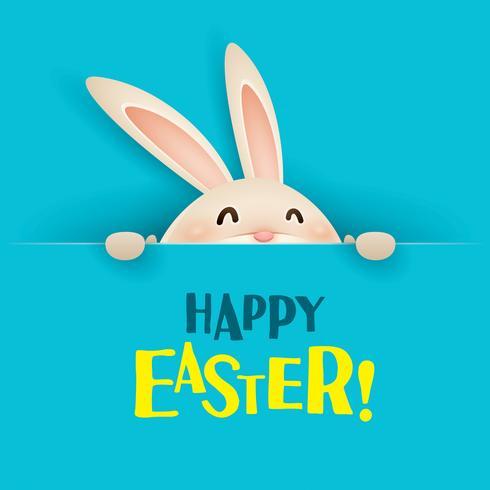 Coniglietto di Pasqua con grande segno vettore