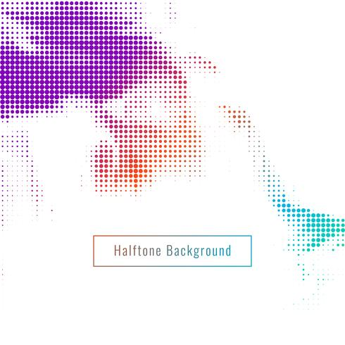 Abstract colorful halftone design background