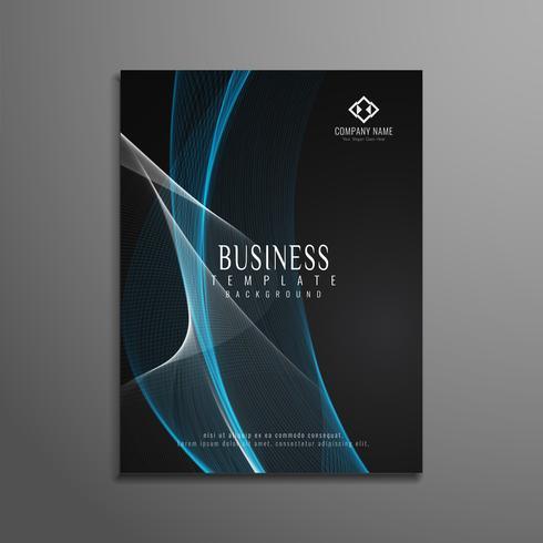 Modello di volantino business elegante astratto ondulato