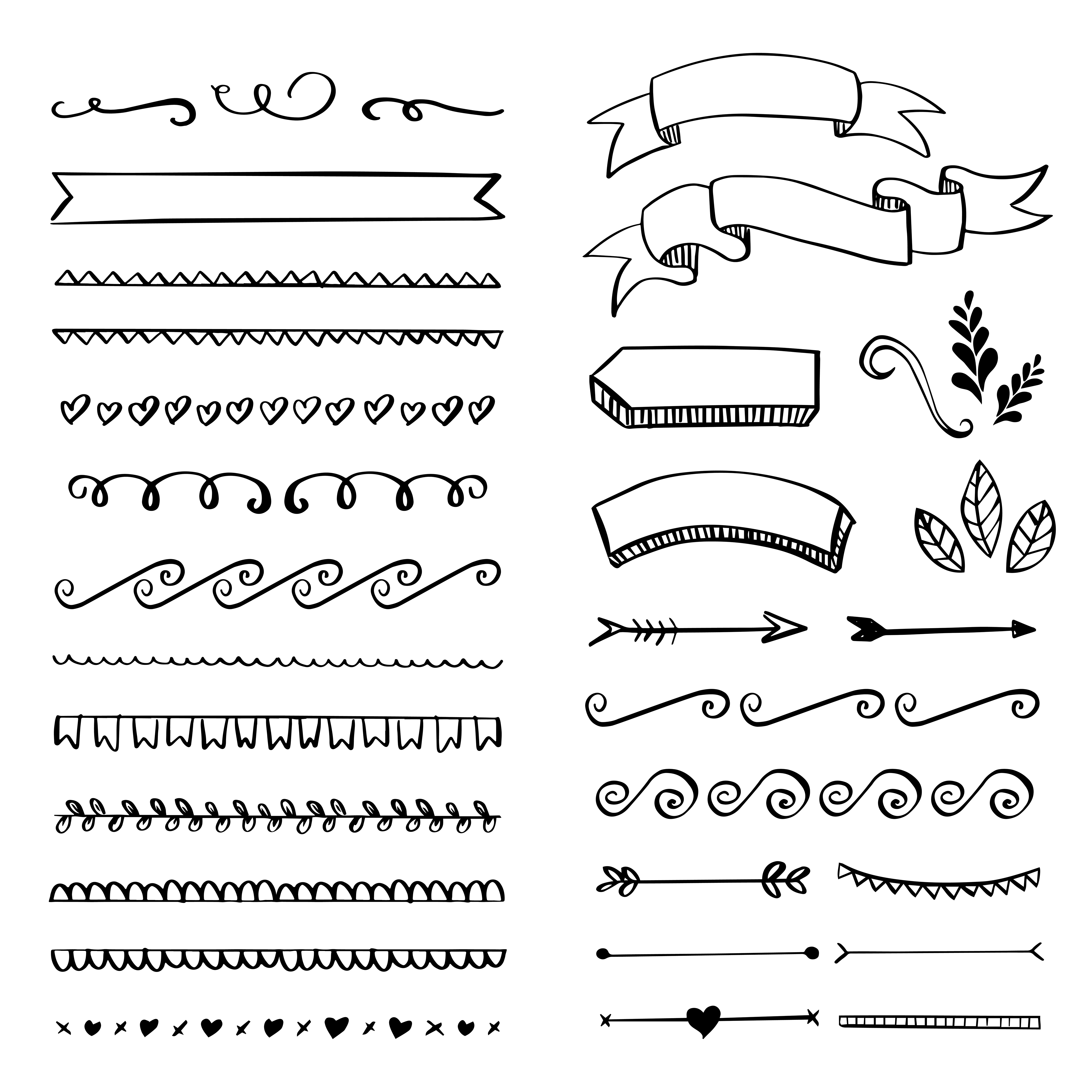 Hand Made Flourishes Ornaments And Frames Download Free