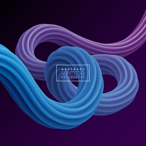 Abstract 3D Colorful Curve Line Background. vector