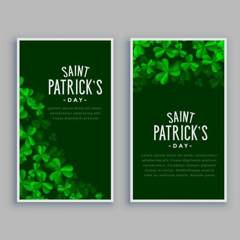 st. Patricks Day vertikale Banner gesetzt