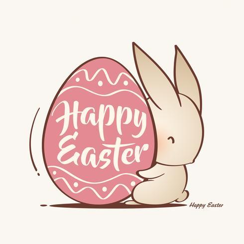 Conejito de Pascua y Huevo de Pascua