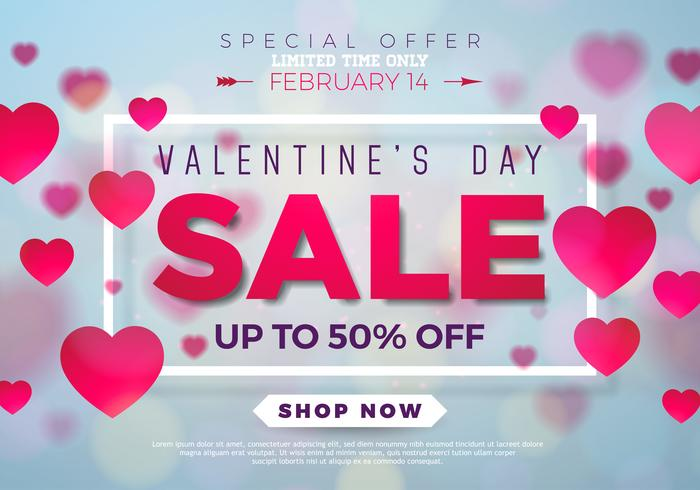 Valentines day sale background  vector