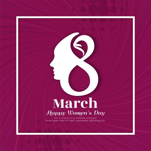 Abstract elegant Women's day background
