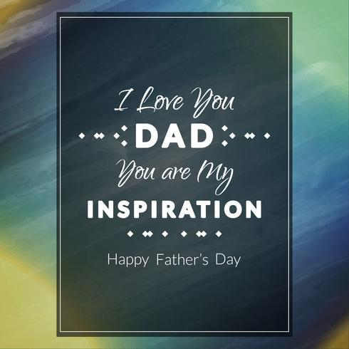 Abstract Father's day background vector
