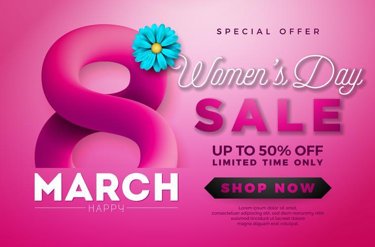 Women's Day Sale design  vector