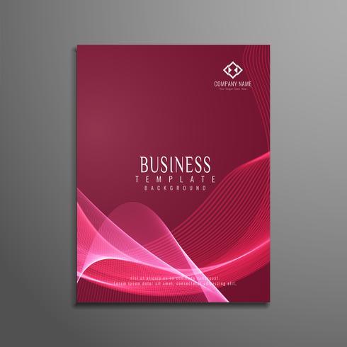 Modelo de panfleto de negócios ondulado elegante abstrata